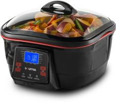 Amazon.com: Gourmia GMC780 18 in 1 Multi Cooker With LCD Display - Deep Fry, Steam, Bake, Roast, Saute & More, Free Recipe Book & Fondue Accessories Included: Kitchen & Dining