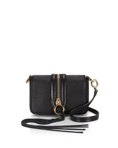 REBECCA MINKOFF Mini Mara Crossbody Bag, Black. #rebeccaminkoff #bags #shoulder bags #leather #crossbody