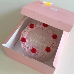 Image shared by ʟɪɴᴀ. Find images and videos about pink, food and aesthetic on We Heart It - the app to get lost in what you love. Pretty Birthday Cakes, Pretty Cakes, 21st Birthday, Cute Food, Yummy Food, Korean Cake, Foto Pastel, Cute Desserts, Just Cakes