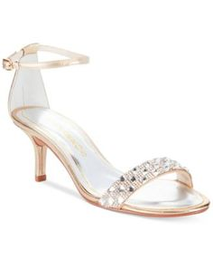 Caparros Starla Two-Piece Evening Sandals - like these for an inexpensive and smaller heel option
