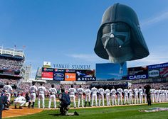 The Bronx Bombers pay their respects to the Sith Lord.