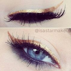 Here's a gorgeous way to use Golden Illusion eyeliner in the MK fall line.