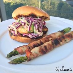 Food Inspiration for Your Hatch Chile Bash - Hatch Chile Salmon Burger with Red Cabbage Cucumber Slaw