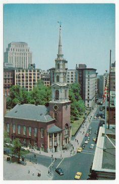 Postcards - United States #  849 - Park Street Church, Boston, Massachusetts