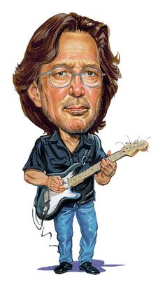 Celebrity Caricatures - Art - Eric Clapton by Art Eric Clapton, Caricature Artist, Caricature Drawing, Funny Caricatures, Celebrity Caricatures, Cartoon Faces, Funny Faces, The Yardbirds, Stevie Ray