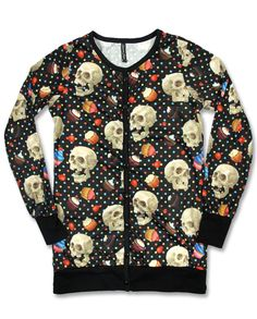 Liquor Brand Damen CUPCAKE SKULL Cardigans.Rockabilly,Pin up,Tattoo,Custom Style