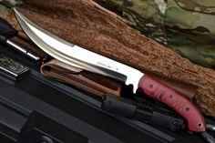 CFK USA iPak Custom Handmade D2 BIGFOOT Hog Slayer Upswept Camp Bowie V1 Knife #CFKCutleryCo