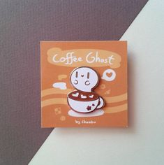 Coffee Ghost Enamel Pin. I drew something like this recently.