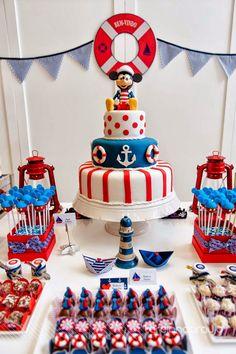 Festa Mickey Marinheiro por Bella Fiore - Sailor Mickey Party by Bella Fiore
