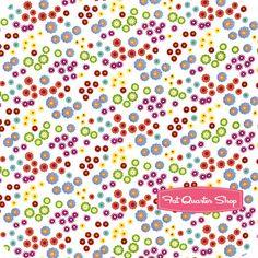Floral Whimsy White Multi Dots Yardage SKU# 2766-610 - Fat Quarter Shop