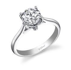 Brent L. Miller Jewelers & Goldsmiths | Platinum Semi Mount Ring With Round Surprise Diamonds - Solitaire Setting Engagement Rings - Engagement Rings
