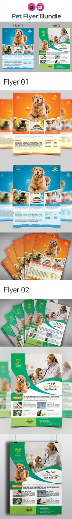 Pet Shop #Flyers Bundle - #Corporate Flyers Download here: https://graphicriver.net/item/pet-shop-flyers-bundle/19517575?ref=alena994