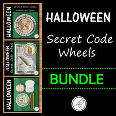 A bundle price for purchasing all 3 of the Halloween Secret Message Code Wheels: Halloween Secret Message Code Wheel - Alphabet and symbols Halloween Secret Message Code Wheel - Alphabet (lower Secret Code, Classroom Resources, Print Templates, Saving Money, Alphabet, Wheels, Coding, Symbols, Messages