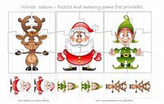 WINTER SEASON #PUZZLE - FREE PRINTABLE