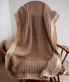 Baby blanket-Im making this one right now. Ridiculously easy for a tremendous payoff. It comes out so very beautiful, heirloom quality.