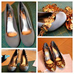 DIY Sequin Shoes