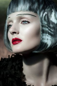 The Persephone Reborn Beauty Story Highlights Patterned Hair #makeup #avantgarde trendhunter.com