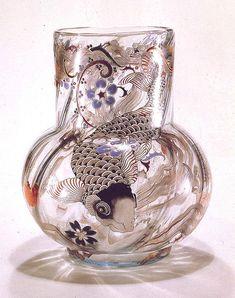 "Emile Gallé Vase ""A la Carpe"" 1876   Emile Gallé: French gla…   Flickr"