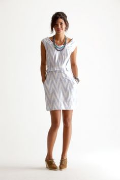 It's Ikat, has a ruffle and pockets - this is THE perfect dress!  Calypso Twin Set #Ikat #Dress $295 (sale 229) #fashion