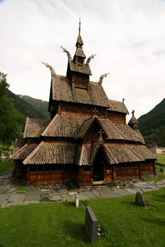 Borgund Stave Church,Norway. This wooden church, probably built in the end of the 12th century, has not changed structure or had a major reconstruction since the date it was built.    Interesting fact: the church is also featured as a Wonder for the Viking civilization in the video game Age of Empires II: The Age of Kings.