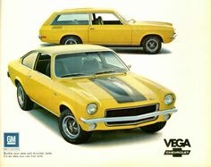 The 1971 Chevy Vega GT - Motor Trend's Car of the Year. The hatchback was my first car back in high school. It was a 4-speed with metallic green paint, a dark green interior and stripe delete option!!