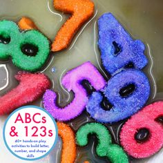 ABCs & 123s is THE book for you if you're looking for learning activities for kids from preschoolers to kindergarteners and beyond! 40+ hands-on play based FUN learning activities cover everything from letter recognition to double digit addition, from writing numbers to understanding base-ten. Your kids will have so much fun learning and reviewing all kinds of math and literacy concepts!