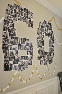 Number Photo Collage - great for birthday or anniversary parties.