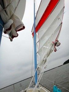 Excellent upwind performance on a junk-rigged boat, thanks to cambered sails.