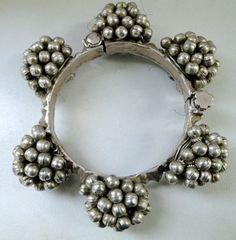 Vintage antique tribal old silver bangle bracelet jewelry ethnic