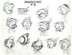 pinocchio model sheet - Buscar con Google