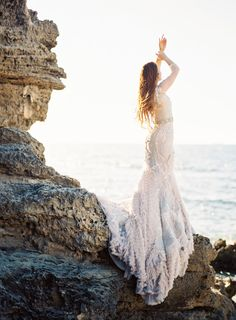 Bridal session at the beach ideas
