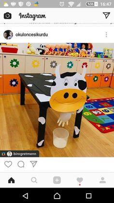 okulda dırama dersinde yapacağomız inek. Milking the cow activity