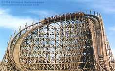 Photo of the Roar wooden coaster at Six Flags Discovery Kingdom theme park in Vallejo. Six Flags America, Roller Coasters, Places Ive Been, Discovery, Fair Grounds, Google Search, Travel, Viajes, Roller Coaster
