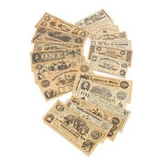 Replica Civil War Currency Note Set