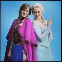 #Frozen #TvGuide, Elsa and Anna - Georgina Haig and Elizabeth Lail