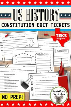 Assess your students' knowledge of the Constitution, Bill of Rights, and the Principles of the Constitution with these no prep TEKS-aligned exit tickets / exit slips Paragraph Writing, Persuasive Writing, Writing Rubrics, Opinion Writing, School Resources, Teacher Resources, Exit Slips, Us History, American History