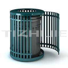 Retail Waste Bin For Outside/cast Iron Outdoor Trash Bin/iron ...