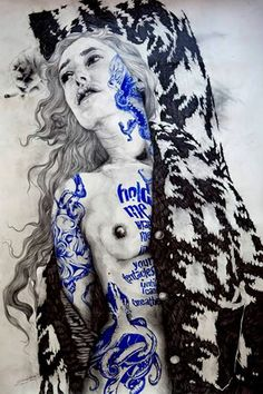 Gabriel Moreno is an illustrator, engraver and painter based in Madrid who keeps producing playfully seductive renderings of feminine, collage style p. Gabriel, Graffiti Murals, Mural Art, Illustrations, Graphic Illustration, Illustration Artists, Street Art, Indie, Photoshop