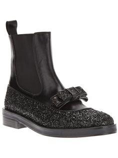 MARKUS LUPFER Glitter Bow Chelsea Boot