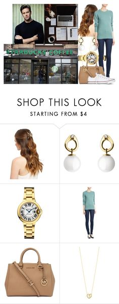 """""""Studying in the morning and receiving a call from Paul informing her that his father has died"""" by swedish-princess ❤ liked on Polyvore featuring Georg Jensen, Burberry, Michael Kors and Converse"""