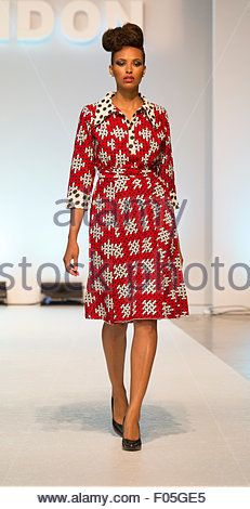 7 August A model walks the catwalk for designer Victoria Grace. 7 August, Africa Fashion, Walks, Afro, Catwalk, Victoria, Stock Photos, London, Model