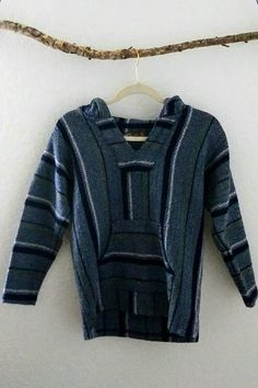 Your place to buy and sell all things handmade Kids Poncho, My Etsy Shop, Men Sweater, Hoodies, Trending Outfits, Check, Sweaters, Shopping, Vintage