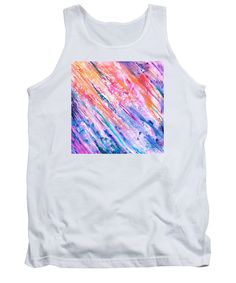 Purchase a tank-top featuring the image of Cascade  by Expressionistart studio Priscilla Batzell.  Available in sizes S - XXL.  Each tank-top is printed on-demand, ships within 1 - 2 business days, and comes with a 30-day money-back guarantee.