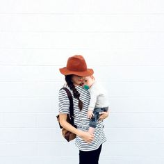 So sweet! Momma and baby casual outfits.