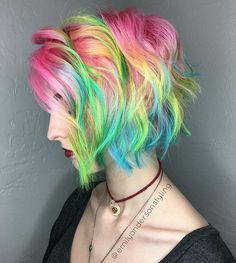 More to come on this neon dream. #highlighterhair #neonhair #pravana #joicocolorintensity #kenraprofessional #mermaidhair #fashionshades #electrichair #behindthechair #modernsalon #rainbowhair #americansalon #imallaboutdahair #nothingbutpixies #emilyandersonstyling