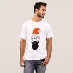 Cyclist Santa Cycling Bicycle Lovers Gift T-Shirt - merry christmas diy xmas present gift idea family holidays