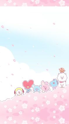 Just leave out all the rest Bts Backgrounds, Cute Wallpaper Backgrounds, Bts Wallpaper, Cute Wallpapers, Iphone Wallpapers, Kawaii Wallpaper, Pastel Wallpaper, Bts Drawings, Bts Chibi