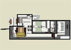 2 Quartos terreno 5m de frente - 10 x R$ 9,90 | Clique Projetos