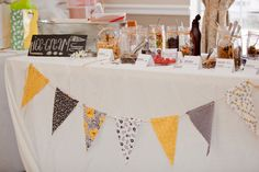 Casual Picnic Wedding Reception | Lauren's grandfather made the ladder that served as the alter, and ...