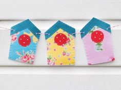 Birdhouse Bunting Sewing Pattern Download